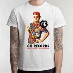 GH Records - T- Shirt L (White) Paco