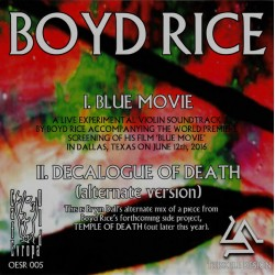 "Boyd Rice ‎– Blue Movie ( Vinyl, 7"")"